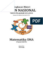 Ringkasan Materi UN Matematika SMA Per Indikator Kisi-Kisi SKL UN 2012 (Odd-even-page)