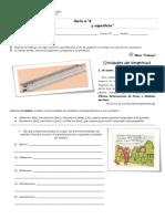 4º básico Matemática Guía Unidad de longitud y superficie 12.06