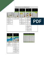 Calendário Escolar 2014 COPA_Cursos Técnicos Semestrais
