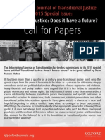 2015 IJTJ  (International Journal of Transitional Justice) Special Issue -- Transitional Justice