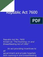 Republic Act 7600
