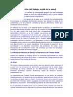 Intervención del trabajo social en la salud