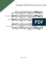 CONCERTO II Del Sig Alexandro Marcello From Concerti a Cinque - Full Score