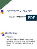 Sentences vs Clauses