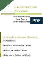 La Calidad en Empresas Mexicanas1