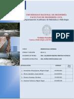 Escalonado de Hidrologia