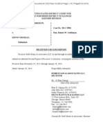 Trudeau Civil Case Document 815 0 and 1 Receivers Second Report 01-28-14