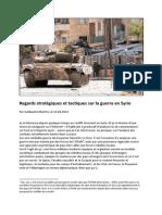Regard Strategiques e Tactiques Sur La Guerre en Syrie