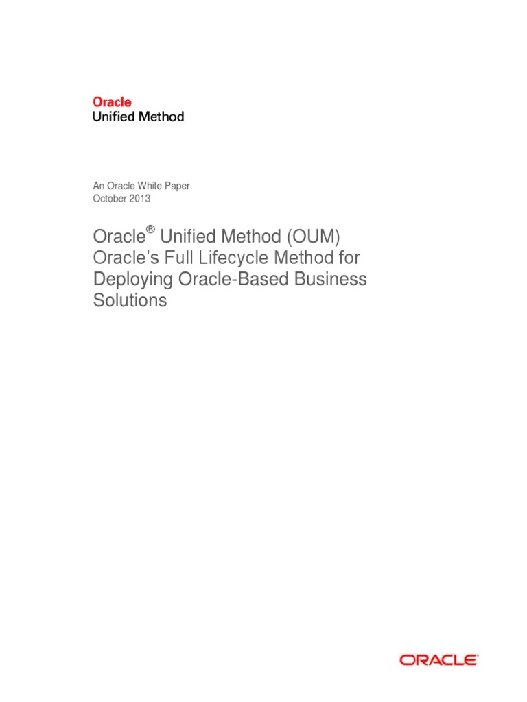 Oracle Unified Method Oum Business Process Software