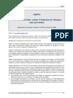 Algerie - R.2008-01 Cheque Sans Provision