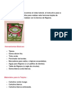 Tarjeta Filigrana Indicaciones
