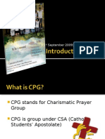 PhpvfKChrIntroduction to CPG - 1 September 09