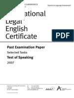 Speaking Past Paper 2007