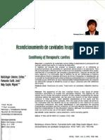 acondicionamiento de cavidades terapéuticas
