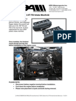 HPA 2.0T FSI Intake Manifold iSheet