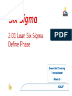 TGB2.01 Lean Six Sigma Define Phase Rev RK 20060224