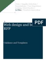Web Design RFP Sample