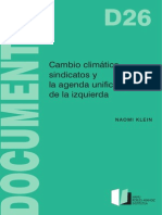 Sindicatos y Cambio Climatico
