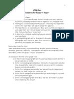 written report guidelines