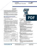 Gauge Pressure Transmitter Data Sheet EJA