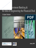 Engineering Structuring Investment Banking Deals