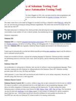 History of Selenium Testing Tool