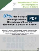 Les Français et les Jeux Olympiques d'hiver de Sotchi 2014