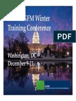 ICGFM Conference Closing Presentation December 2013