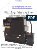 Cool Machines CM300 Insulation Machine Truck/Trailer Spray System with Vac-Pack Recovery System