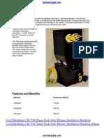 Cool Machines Cm 700 Insulation Blowing Machine Datasheet
