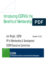 Introduction to ICGFM Membership Benefits Jim Wright