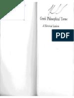 Peters, Greek Philosophical Terms