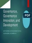 Governance, Governance Innovation, And Development Matt Andrews