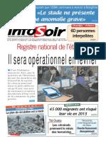 Journal Infosoir Du 30.01.2014