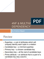 4NF and Multivalued Dependency by Kristina Miguel