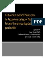 Gestión de la Inversión Pública para las Asociaciones del sector Público y Privado PIM for PPP JKIM