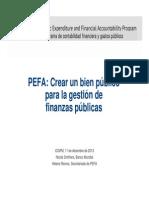 PEFA ICGFM Presentation Nicola Smithers SP
