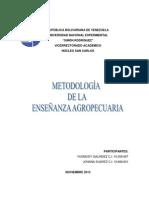 MÉTODOS DE ENSEÑANZA SOCIALIZADOS A LA ACTIVIDAD AGROPECUARIA