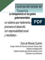 La Transparencia en Los Gastos Gubernamentales Doris Coutinho