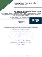 Communication Research 2010 Rosen 420 40