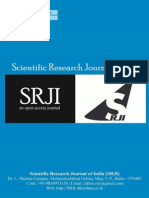 Scientific Research Journal of India SRJI Vol 3 Issue 1 Year 2014