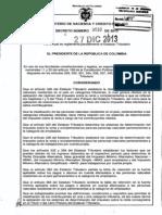 decreto 3032 del 27 de diciembre de 2013