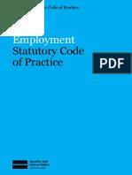 Employment Statutory Code & Practice