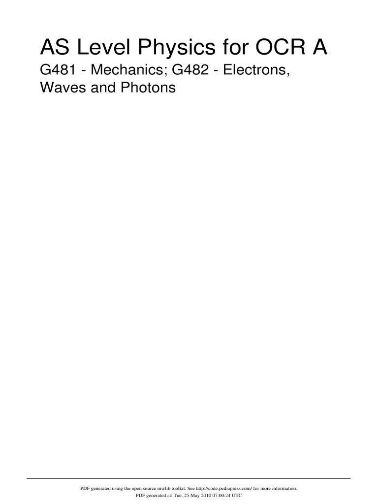 Ocr for pdf 1 physics