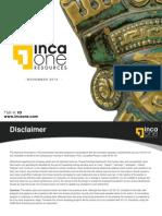 2013 11 13 Inca One Presentation