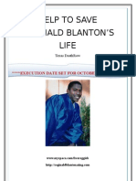 Reginald Blanton,Texas Deathrow Information Packet