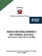 Marco Macroeconómico Multianual 2010-2012