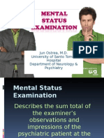 Beh Med - Mental Status Examination