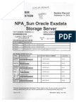 City of Oakland Fire 1-EOC-DAC Sun Oracle Exadata Storage Server Docs