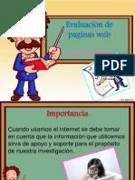 evaluación de pagina web
